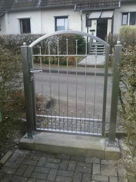 metallbau mühlhoff - gartentor - Gartentor Edelstahl